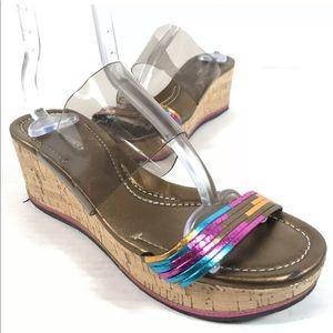 DONALD J PLINER 'Sabrina' Leather Wedge Sandals